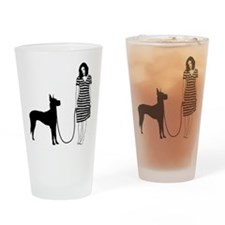Great-Dane11 Drinking Glass