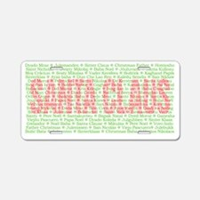 santa Aluminum License Plate
