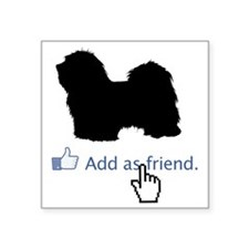 "Havanese13 Square Sticker 3"" x 3"""