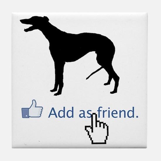 Greyhound13 Tile Coaster