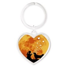 Golden-Retriever22 Heart Keychain