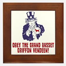 Grand-Basset-Griffon-Vendeen18 Framed Tile