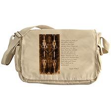 Isaiah 50-6-7 Messenger Bag