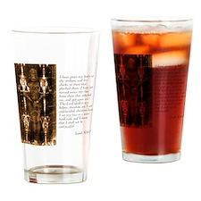Isaiah 50-6-7 Drinking Glass