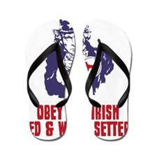 Irish-Red-&-White-Setter18 Flip Flops
