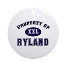 Property of ryland Ornament (Round)