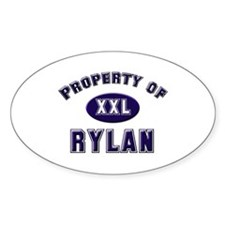 Property of rylan Oval Decal
