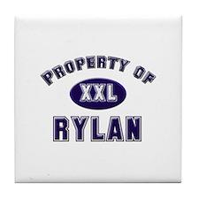 Property of rylan Tile Coaster
