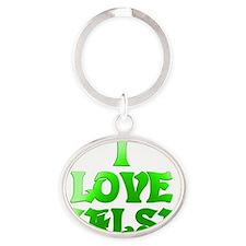 I LOVE SALSA A  03 Oval Keychain