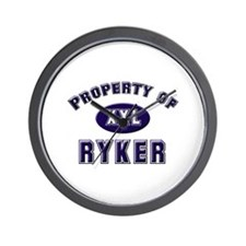 Property of ryker Wall Clock