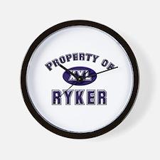 Property of ryker Wall Clock