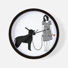 Irish-Wolfhound11 Wall Clock