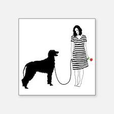 """Irish-Wolfhound11 Square Sticker 3"""" x 3"""""""