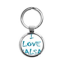 I LOVE SALSA CH  004 Round Keychain