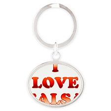 I LOVE SALSA 17 Oval Keychain