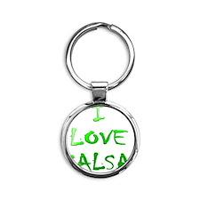 I LOVE SALSA CH  002 Round Keychain