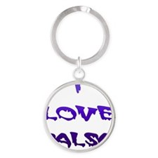 I LOVE SALSA BLD 005 Round Keychain