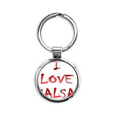 I LOVE SALSA CH  005 Round Keychain