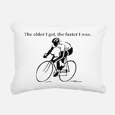 olderfasterbike2 Rectangular Canvas Pillow