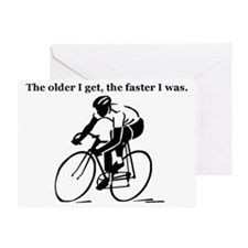 olderfasterbike2 Greeting Card