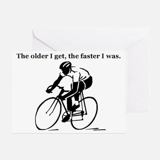 olderfasterbike2 Greeting Card