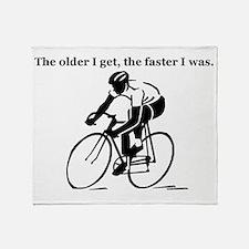 olderfasterbike2 Throw Blanket