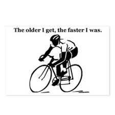 olderfasterbike2 Postcards (Package of 8)