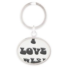 I LOVE SALSA PPY 002 Oval Keychain