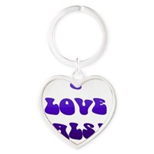 I LOVE SALSA PPY 006 Heart Keychain