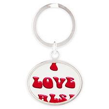I LOVE SALSA PPY 001 Oval Keychain