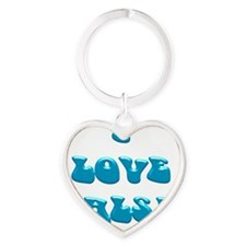 I LOVE SALSA PPY 004 Heart Keychain