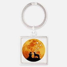 Irish-Wolfhound22 Square Keychain