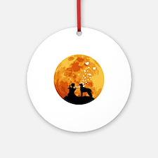 Irish-Wolfhound22 Round Ornament
