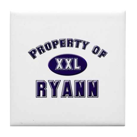 Property of ryann Tile Coaster