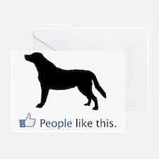 Labrador-Retriever03 Greeting Card