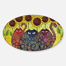 2-gatos Sticker (Oval)