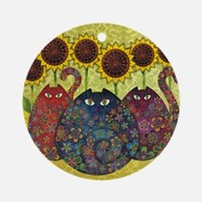 2-gatos Round Ornament