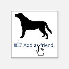 """Labrador-Retriever13 Square Sticker 3"""" x 3"""""""