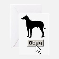 Manchester-Terrier15 Greeting Card