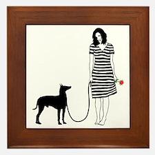 Manchester-Terrier11 Framed Tile