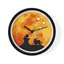 Keeshond22 Wall Clock