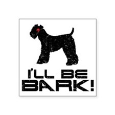 """Kerry-Blue-Terrier24 Square Sticker 3"""" x 3"""""""