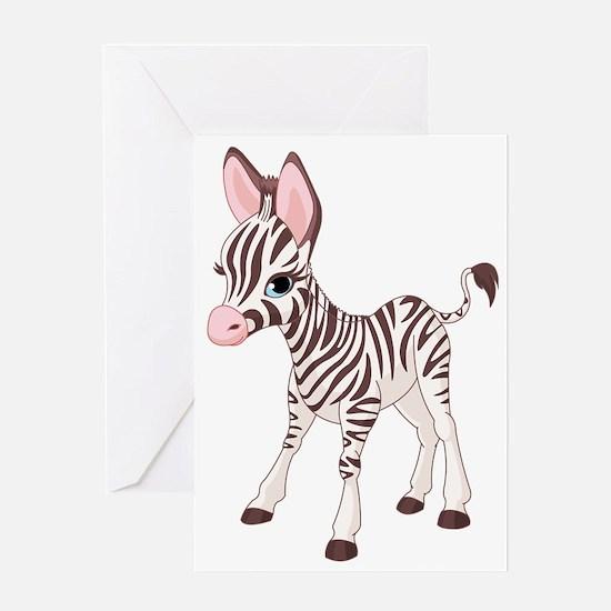 b2_zebra_02 Greeting Card