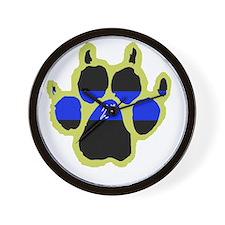 Yellow Paw  2Ass (Paw Enforcement- dark Wall Clock