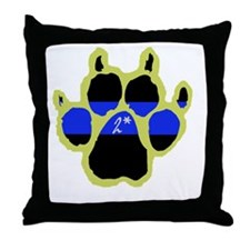 Yellow Paw  2Ass (Paw Enforcement- da Throw Pillow