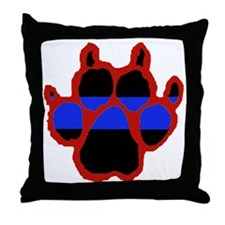 Red Paw FRONT AND BACK 10x10_apparel Throw Pillow