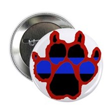 """Red Paw FRONT AND BACK 10x10_apparel 2.25"""" Button"""