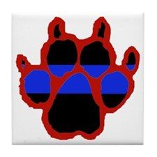 Red Paw FRONT AND BACK 10x10_apparel Tile Coaster