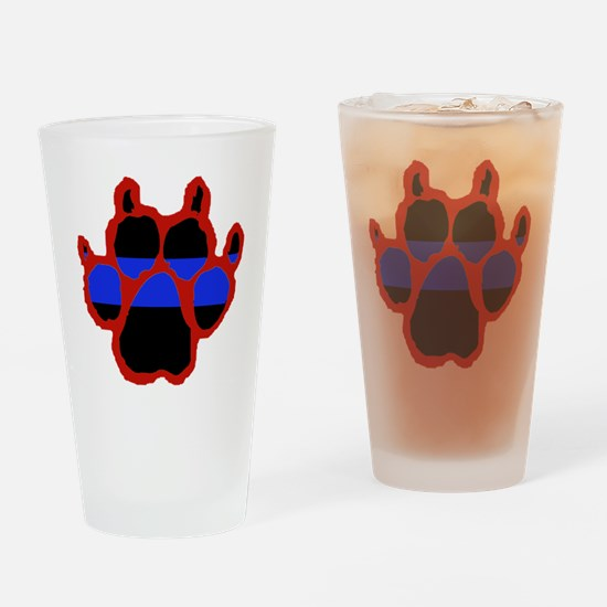 Red Paw FRONT AND BACK 10x10_appare Drinking Glass