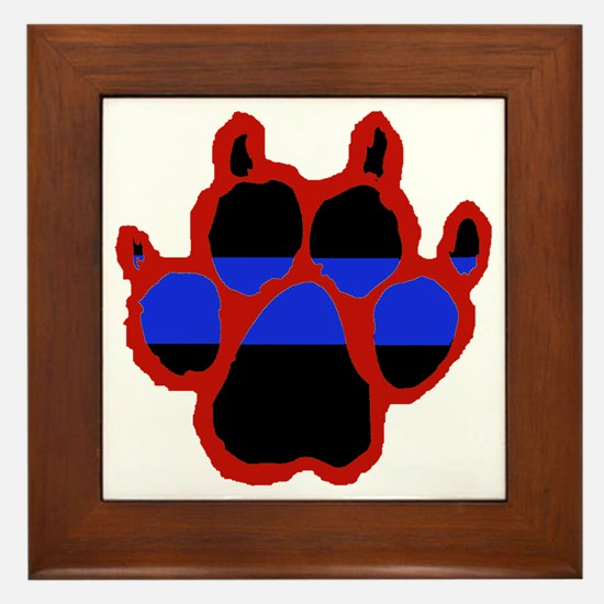 Red Paw FRONT AND BACK 10x10_apparel Framed Tile